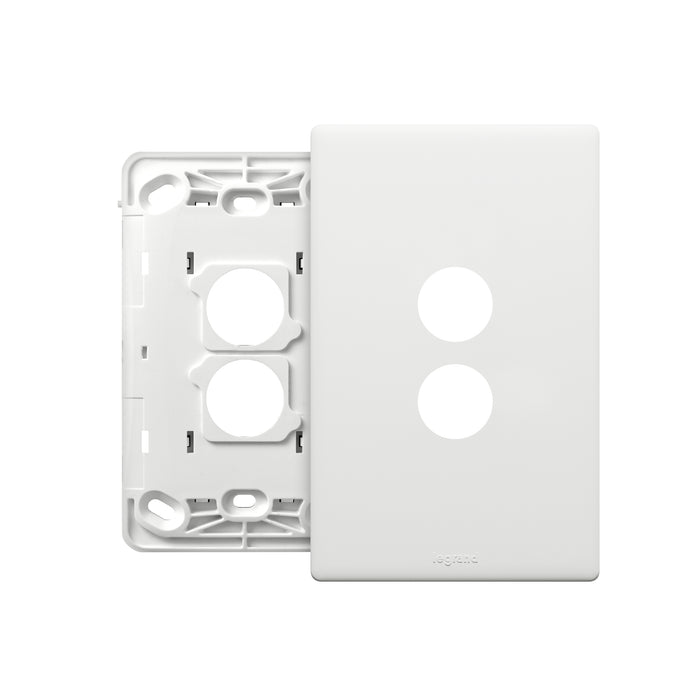 Legrand Excel Life 2 Gang Grid And Plate Assembly