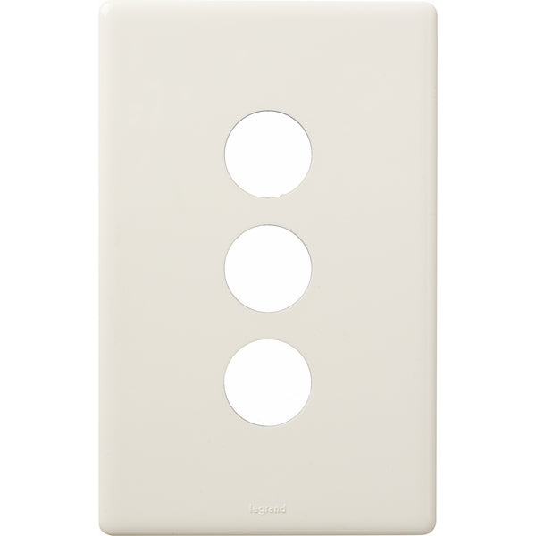 Legrand Excel Life 3 Gang Switch Plate - Cover Only, Available in 6 Colours