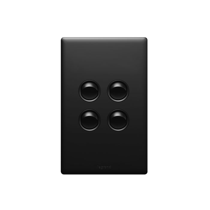 Legrand Excel Life Dedicated Plate 4 Gang Switch, Available in 5 Colours