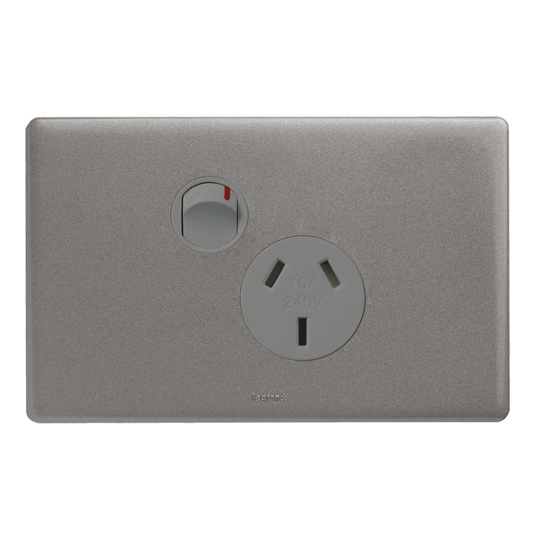 Legrand Excel Life Single Power Point Outlet 15a, Available in 3 Colours