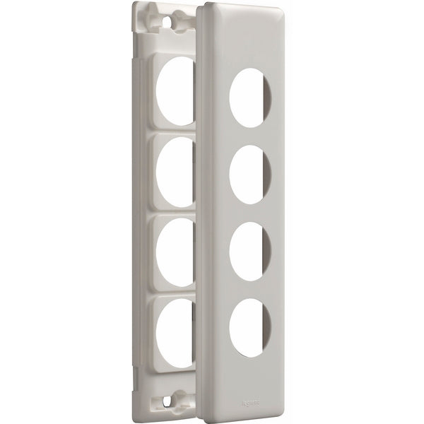 Legrand Excel Life 4 Gang Architrave Grid And Plate Assembly, Available In 3 Colours