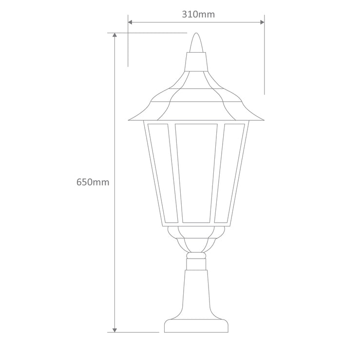 Domus Chester Large - Traditional Pillar Mount