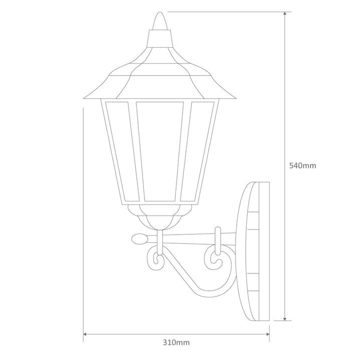 Domus Turin - Up Facing Traditional Wall Light