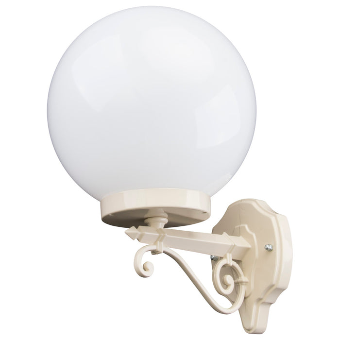 Domus Siena - 25cm Sphere Straight Arm Traditional Wall Light