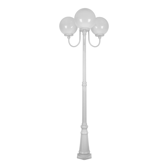 Domus Lisbon - 30cm Sphere Triple Head Tall Traditional Post