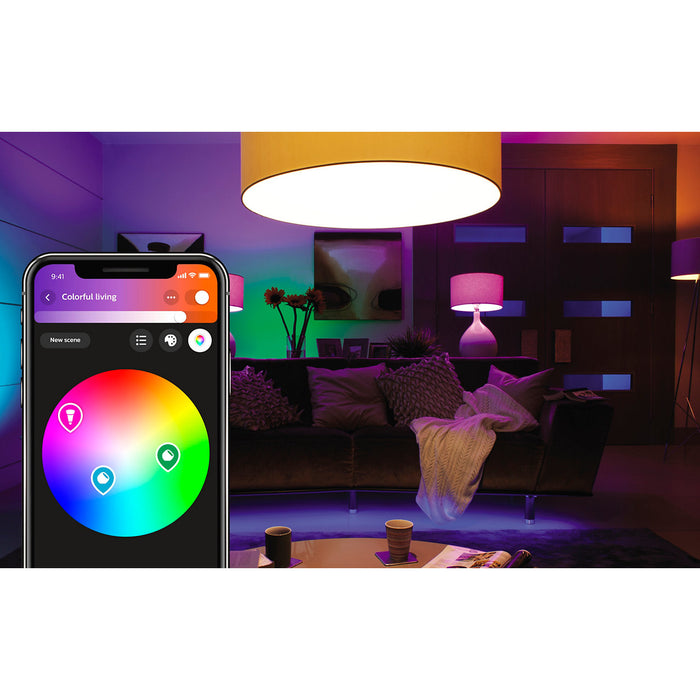 Philips Hue White and Colour Ambiance Single Bulb E14
