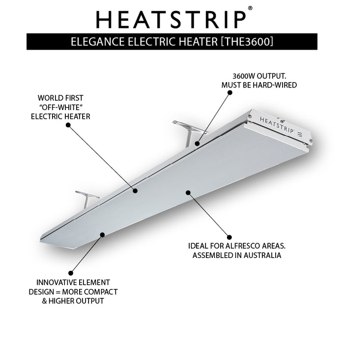 Heatstrip Elegance 3600W Radiant Outdoor Heater THE3600