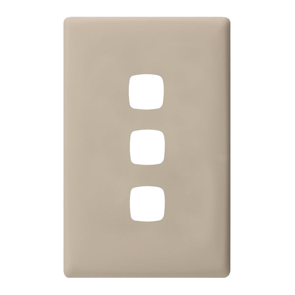HPM Linea 3 Gang Switch - Cover Plate Only, 10 Colour Finishes