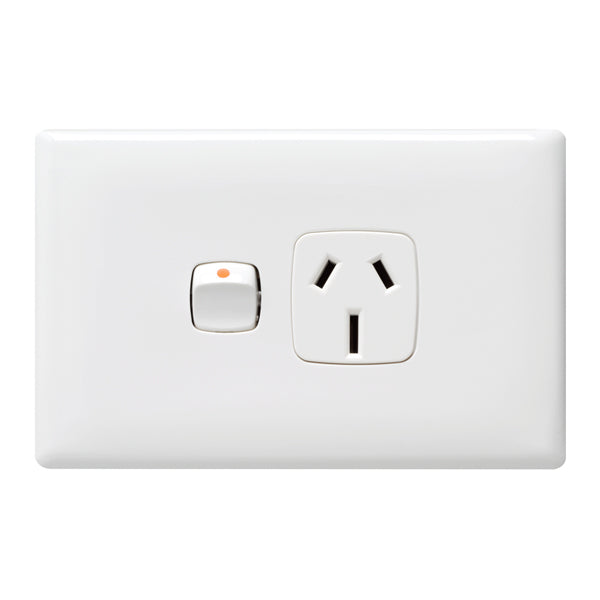 HPM Linea Single Powerpoint Outlet 15a