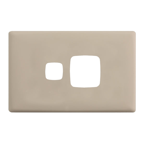 HPM Linea Single Switch Socket - Cover Plate Only, 10 Colour Finishes