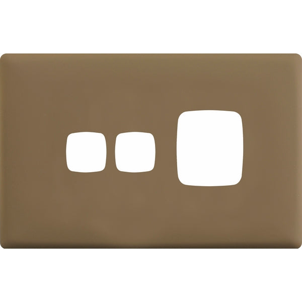 HPM Linea Single Switch Socket With Extra Switch - Cover Plate Only, 10 Colour Finishes