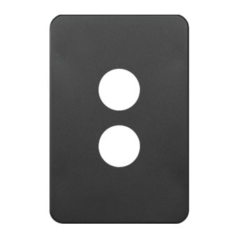 Hager Silhouette 2 Gang Switch Plate - Skin Only