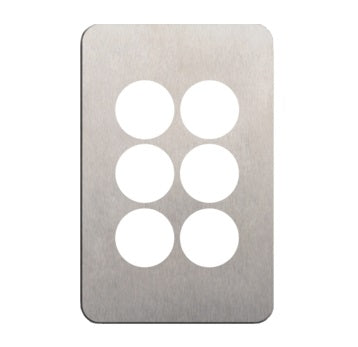 Hager Silhouette 6 Gang Switch Plate - Skin Only