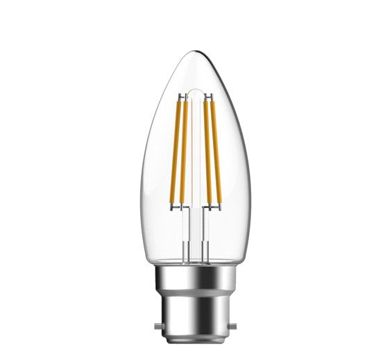 4.8W Dimmable LED Filament Candle Globe