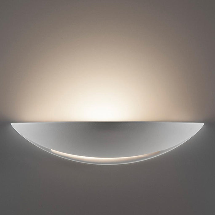 DOMUS - Ceramic Dish Shaped Wall Light With Open Slot