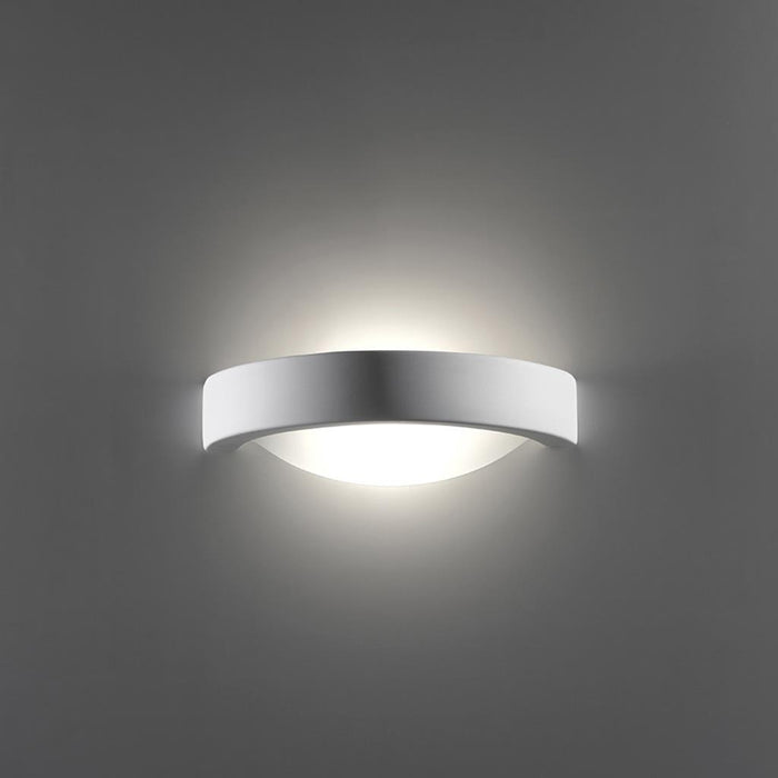DOMUS - Ceramic Frosted Glass Hollow Crescent Wall Light