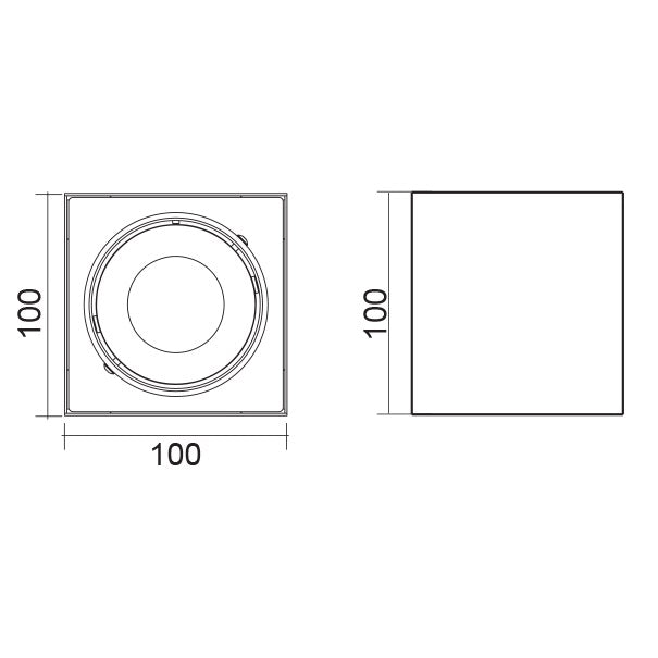 SAL Dice II - Surface Mount Square LED Downlight