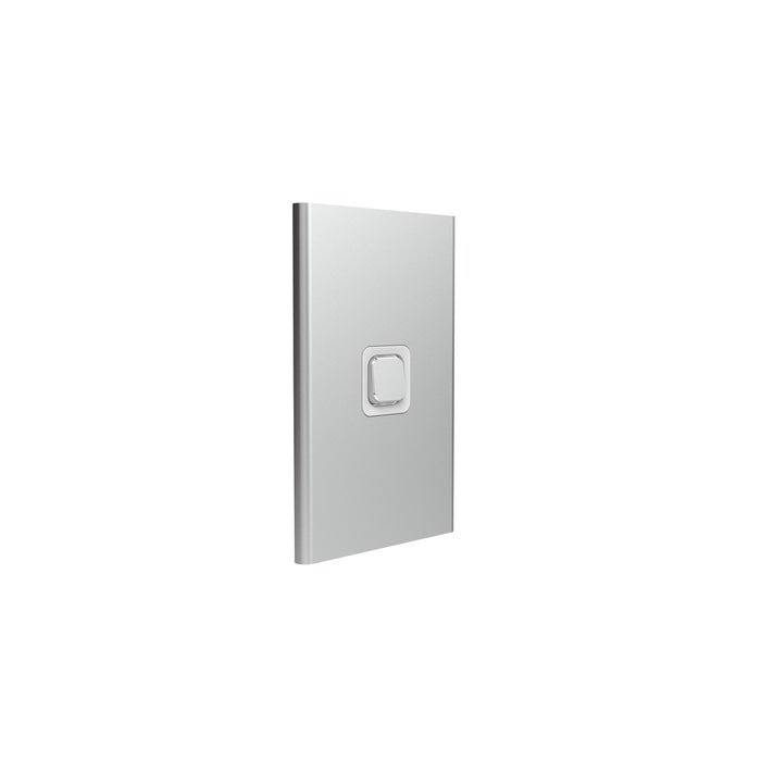 Clipsal Iconic Styl 1 Gang Switch Plate - Skin Only, Silver
