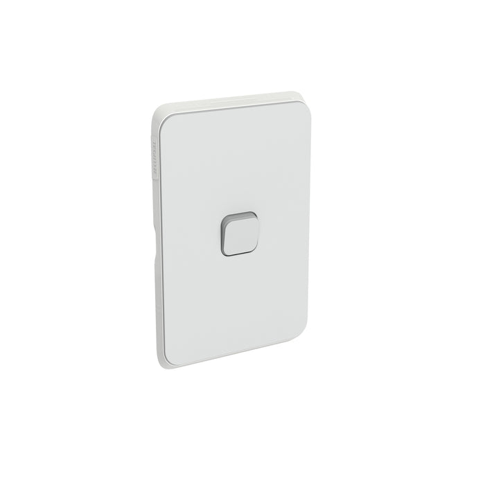 Clipsal Iconic 1 Gang Switch Plate - Skin Only, Cool Grey