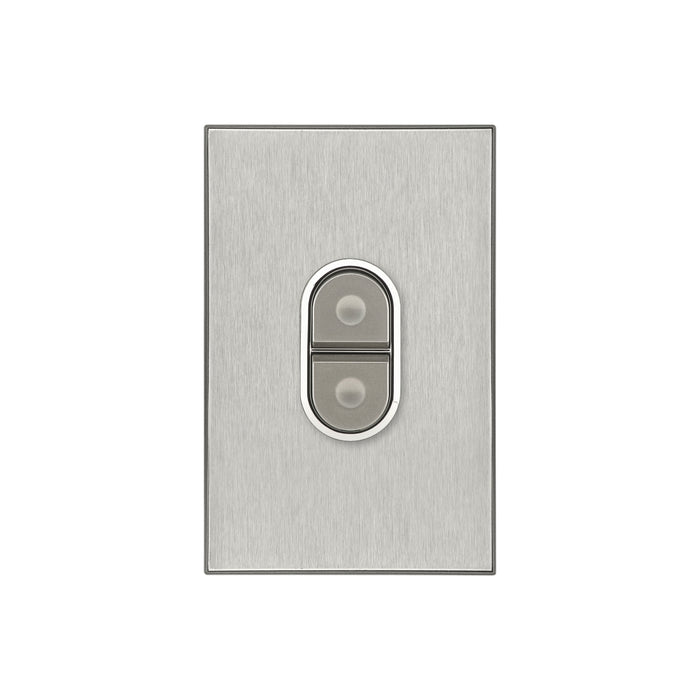 Clipsal Saturn Series Single Pole Cooker Switch 45a, Horizon Silver