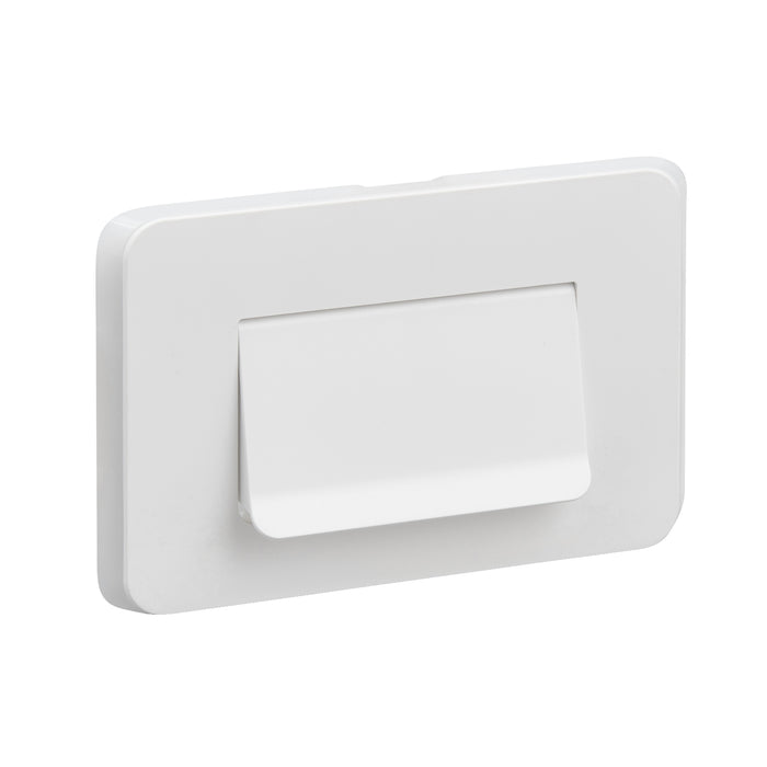 Clipsal Iconic Cable Entry Plate Horizontal Mount Vivid White