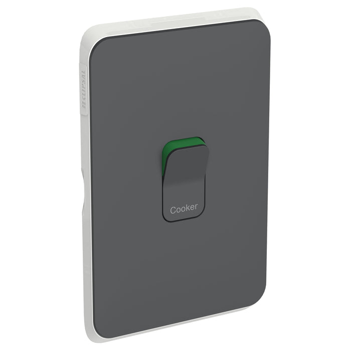 Clipsal Iconic Cooker Switch Plate - Cover Only, Antracite