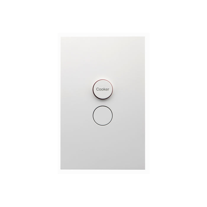 Clipsal Saturn Zen Double Pole Cooker Switch 32a 415v, Matt White