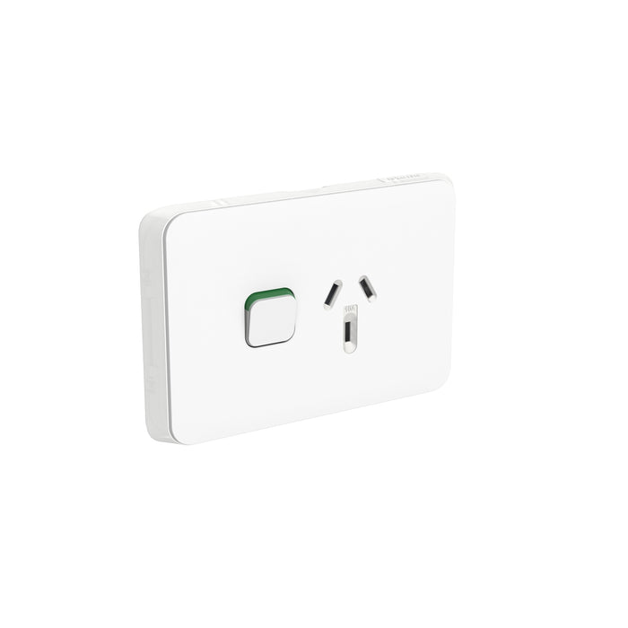 Clipsal Iconic Single Powerpoint Outlet 10a, Vivid White