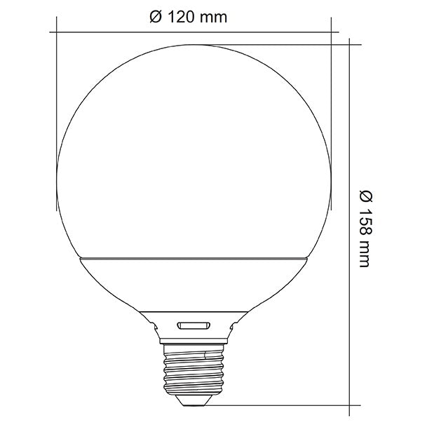 G95 13w Dimmable LED SMD Opal Lamp