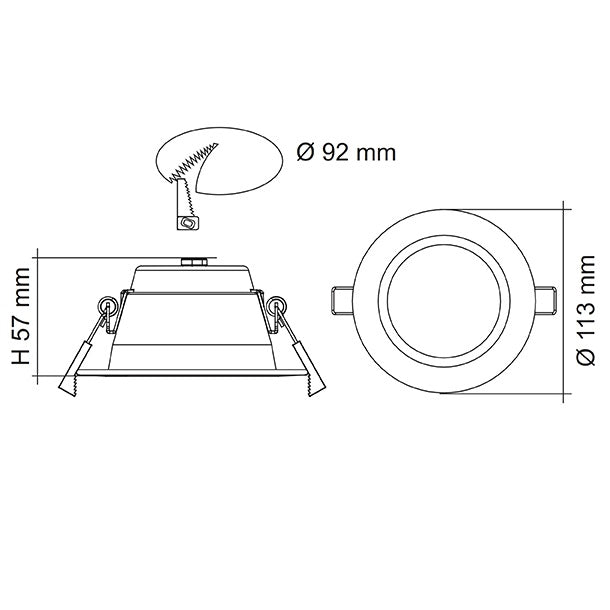 SAL Premier - Recessed LED Round Downlight 10W