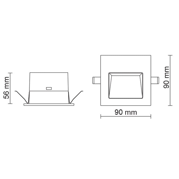 SAL Ambience - Recessed Square Step Light