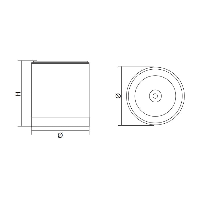 SAL Column  - Surface Mount LED Downlight 150mm