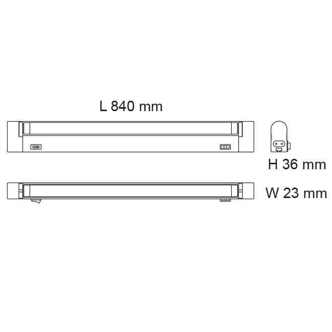 13W Slimline Seamless TC Linkable LED Batten