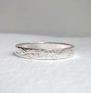 925 - 4mm - Hammered wedding band