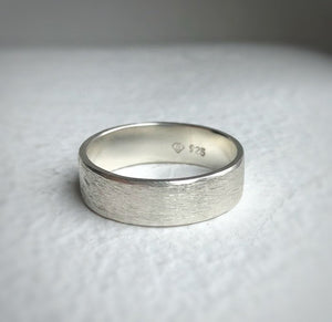 925 - 6mm - Rustic wedding band