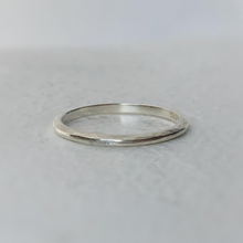 Load image into Gallery viewer, tapered wedding band sterling silver rustic texture minimal ring