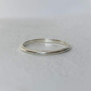 tapered wedding band sterling silver rustic texture minimal ring