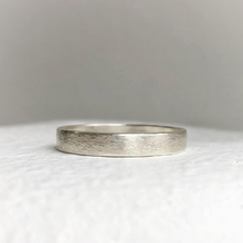 Load image into Gallery viewer, Handcrafted wedding band - rustic sterling silver wedding band - Wedding band - Men's wedding bands - Rustic wedding ring - Gifts for him