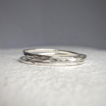 Load image into Gallery viewer, 925 - Ultra thin sterling silver band - minimal band - Tiny silver ring - stacking bands - stacking rings - stacking silver band