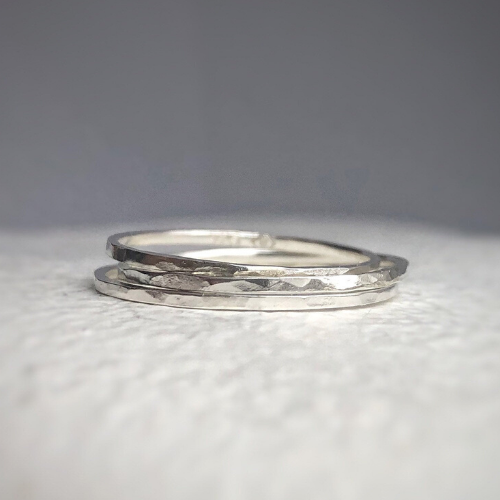 925 - Ultra thin sterling silver band - minimal band - Tiny silver ring - stacking bands - stacking rings - stacking silver band