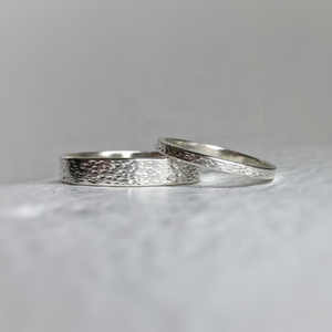 925 - 4mm - Textured silver wedding band