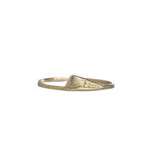 Load image into Gallery viewer, Ultra thin band - 1mm gold band- thin rustic yellow gold ring - Ethically sourced - stacking ring - stacking gold bands.