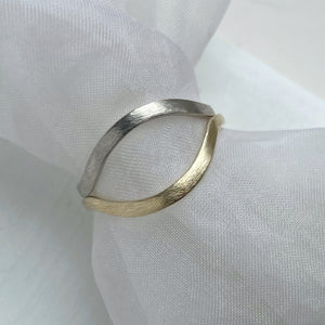 High arch curved band - white gold - 2mm - Rustic wedding ring
