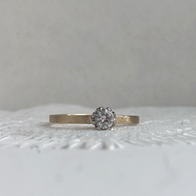 Load image into Gallery viewer, Rose and Constance with 4mm rustic white gold band - Bride and groom set