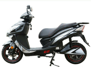 Electric Moped Motorcycle Legal Power Scooter | Adult E-Bike 2,000 Watt 72 Volt