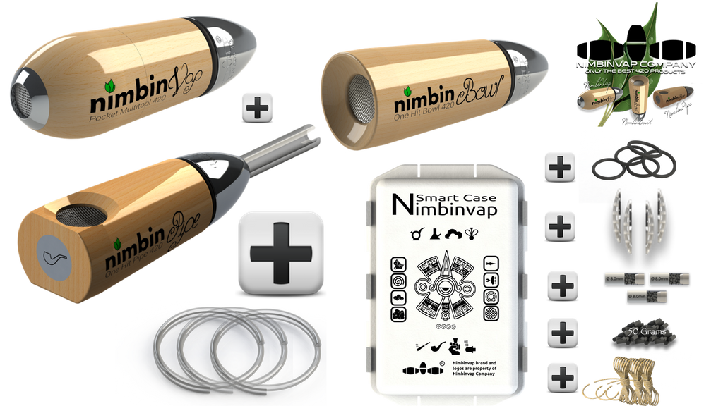 Full Experience Pack NimbinVap 5.0+Smart Case+Active Charcoal+Hempwick