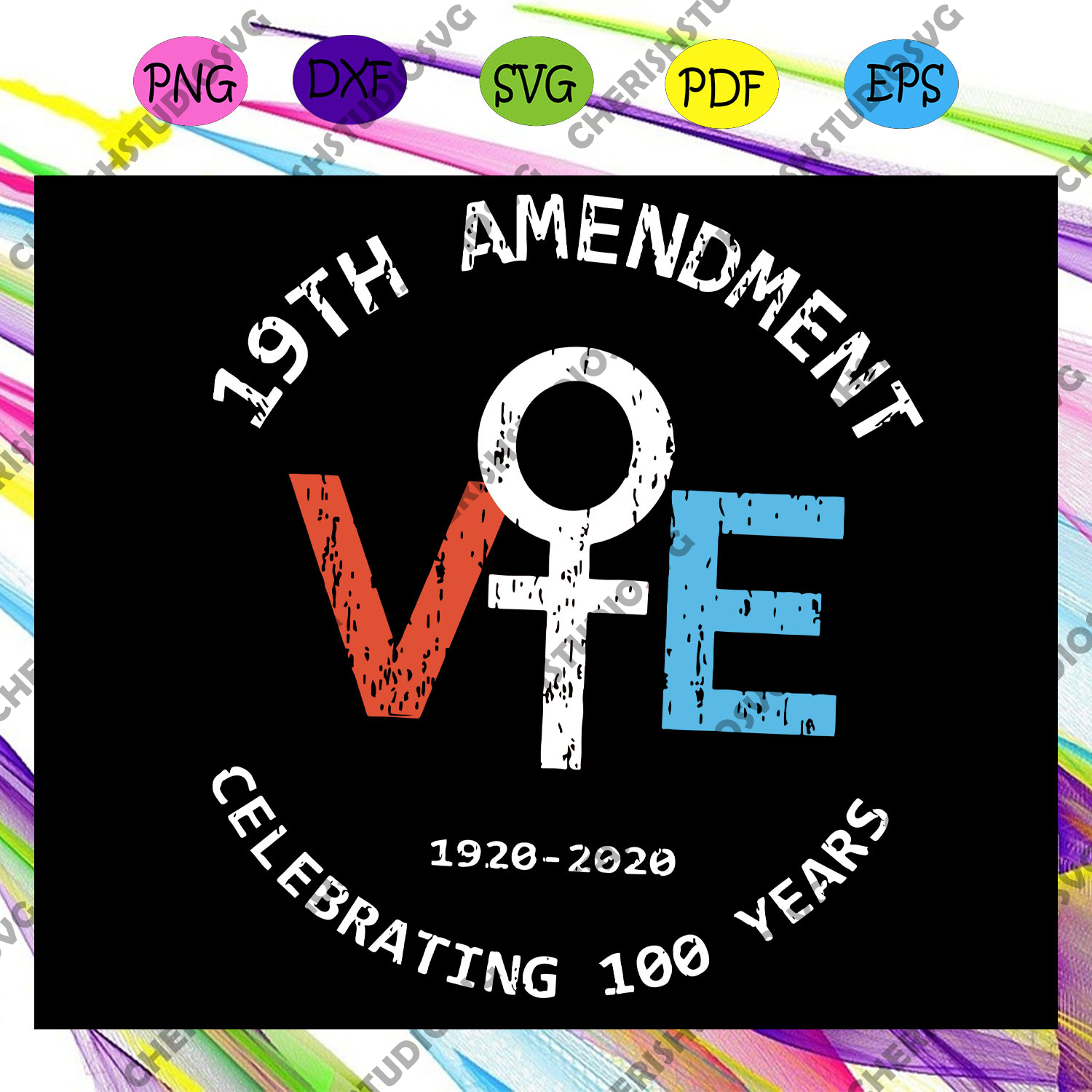 19th Amendment Svg, Suffrage Svg, Feminism Svg, Empowerment Svg, Women Svg, Gift For Women Svg, Feminist For Silhouette, Files For Cricut, SVG, DXF, EPS, PNG Instant Download