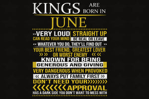 Kings are born in June, birthday svg, born in June, June birthday, gift for June birthday,family svg, family shirt,family gift,trending svg, Files For Silhouette, Files For Cricut, SVG, DXF, EPS, PNG, Instant Download