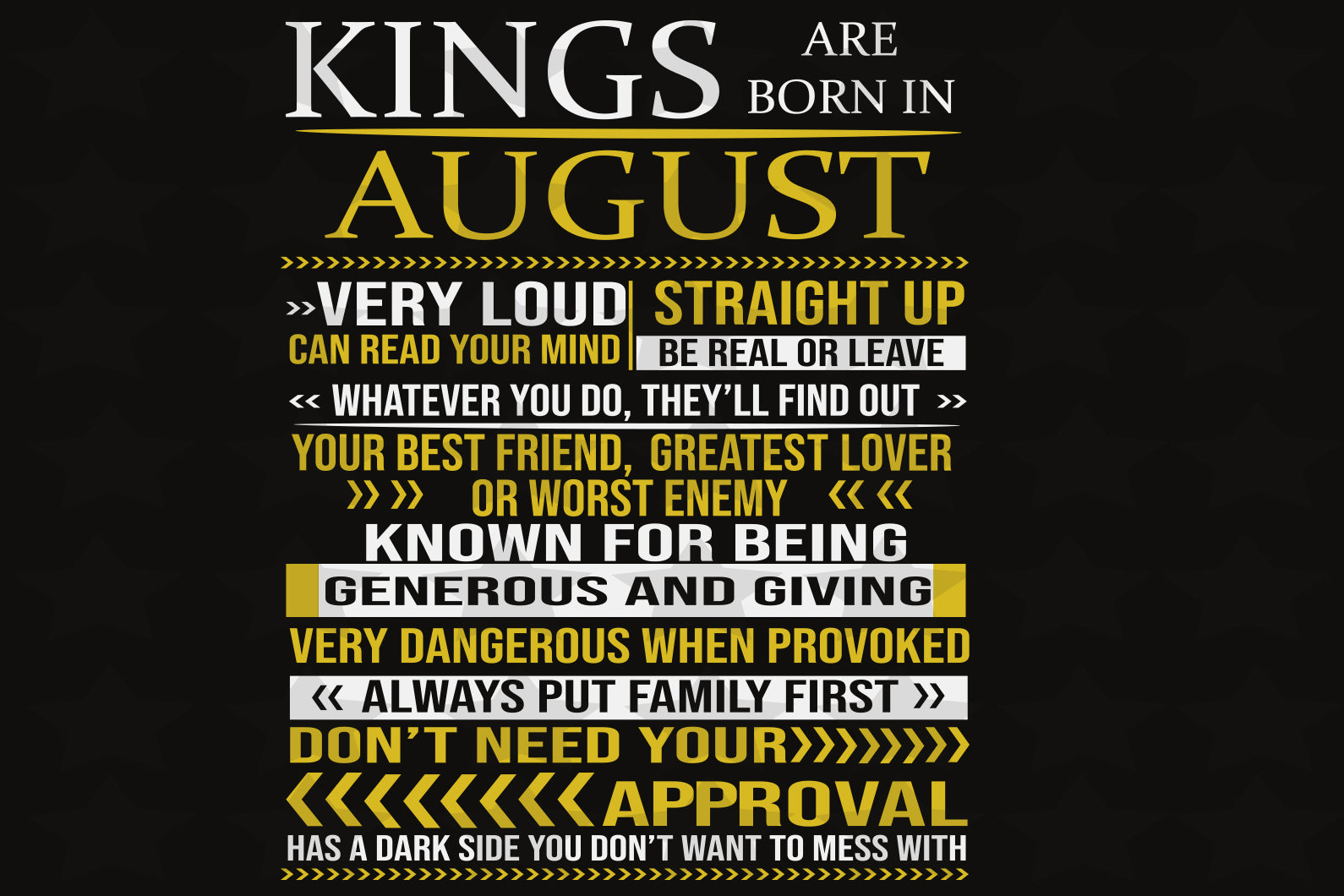 Kings are born in august,  born in August, August birthday, gift for August birthday,family svg, family shirt,family gift,trending svg, Files For Silhouette, Files For Cricut, SVG, DXF, EPS, PNG, Instant Download