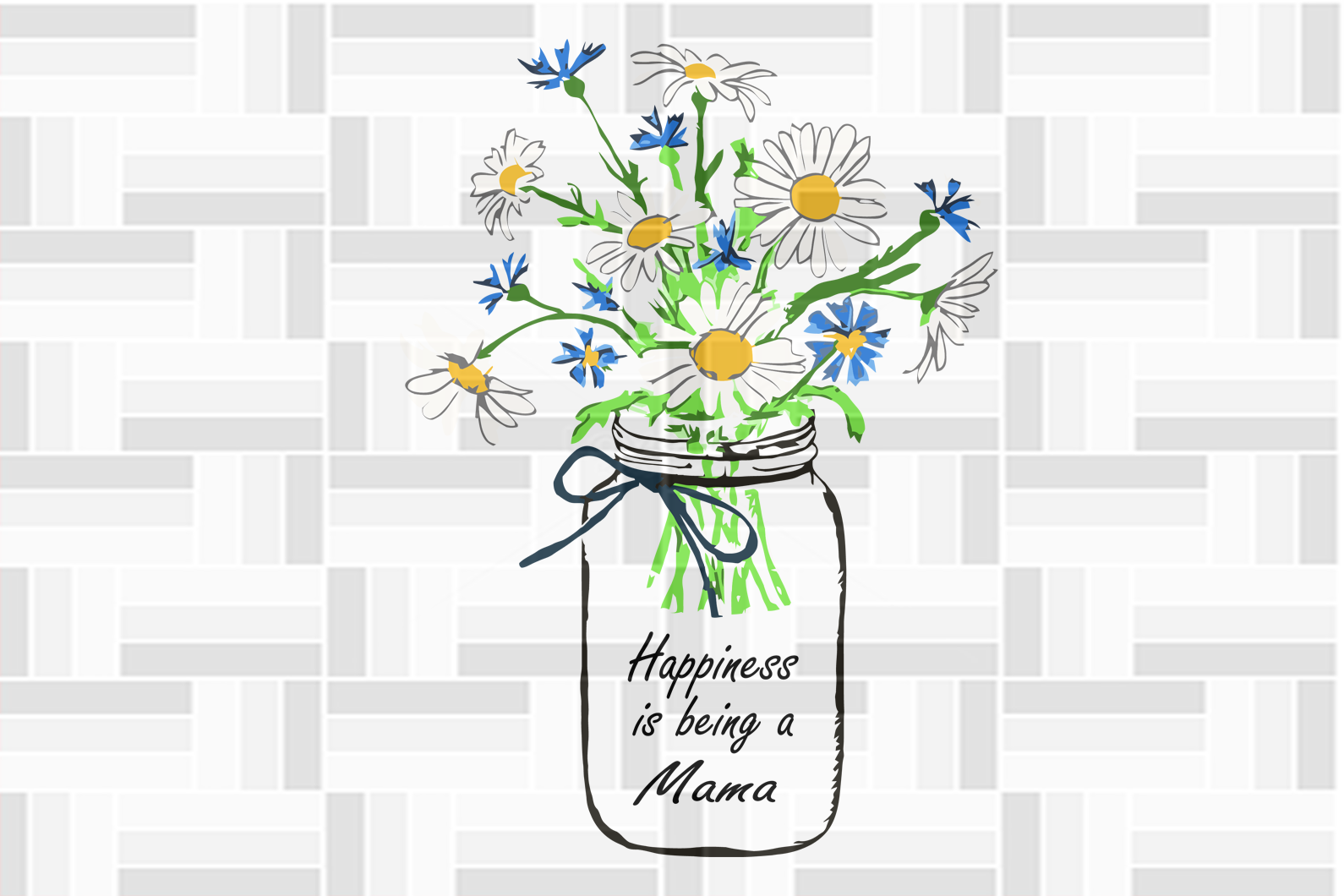 Happiness is being a mama, flower svg, mama svg, mama gift, family svg, family shirt,family gift,trending svg, Files For Silhouette, Files For Cricut, SVG, DXF, EPS, PNG, Instant Download